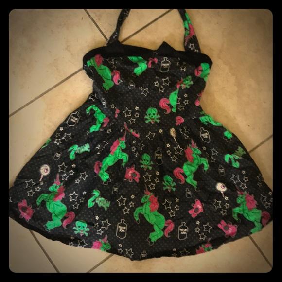 19709fffe2866 Hell Bunny Dresses | Zombie Unicorn Dress | Poshmark